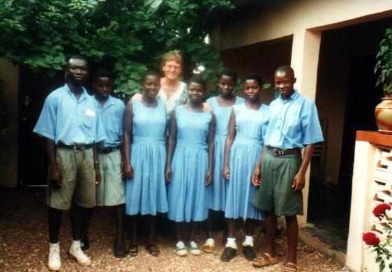De eerste sponsor studenten in Ghana. 1997